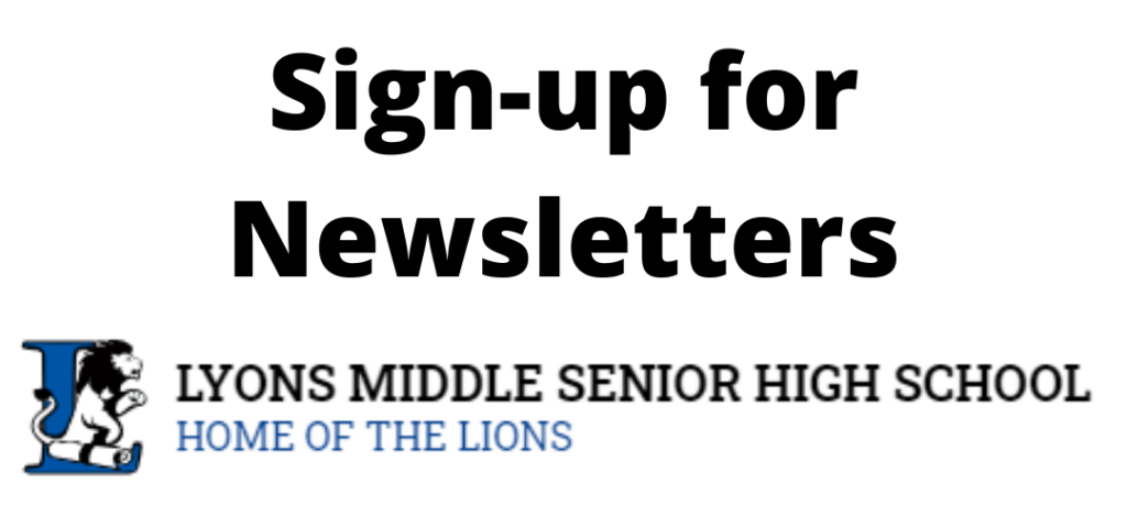Sign-up for Newsletters